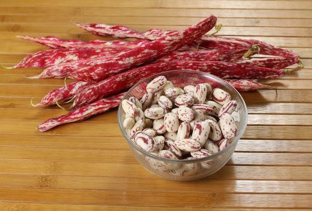 Borlotti beans for pasta with beans soup