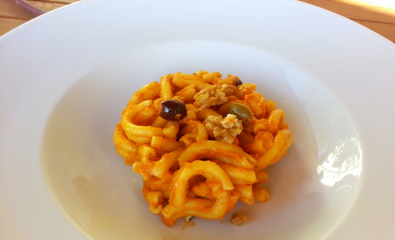 Casarecce with Pumpkin & Orange Pesto