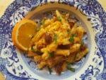 Casarecce with pumpkin and orange pesto