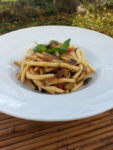 Fileja Tropeana, a vegetarian pasta recipe from Calabria.