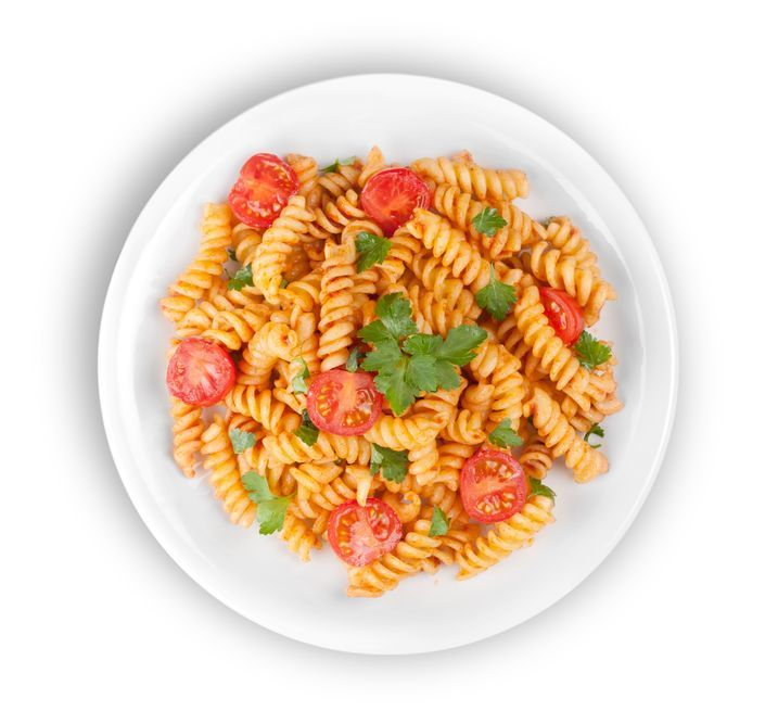 Fusilli with tomatoes