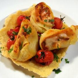 Stuffed Lumaconi (lumache) pasta