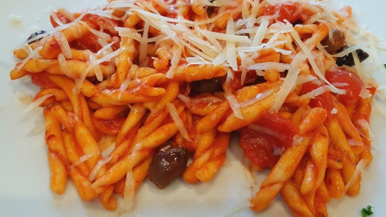 Fresh Fileja pasta with Nduja