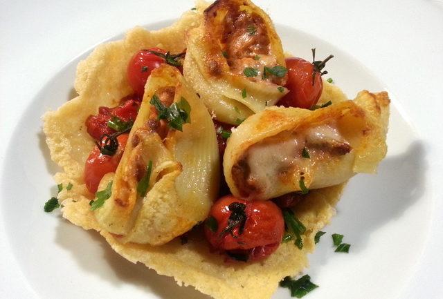 Lumaconi snail shell pasta