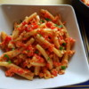 Casarecce with roasted red pepper pesto