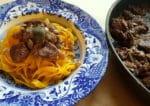 Tagliatelle with chicken liver; a recipe from Emilia-Romagna.