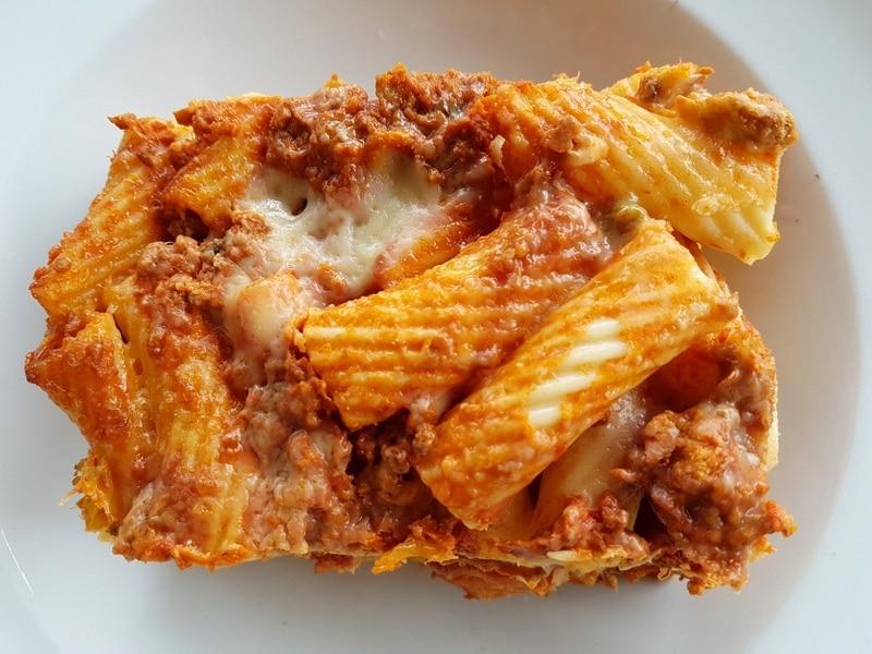 Sicilian pasta al forno baked tortiglioni