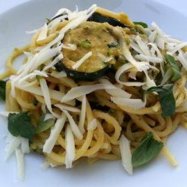 Spaghetti with zucchini alla Nerano