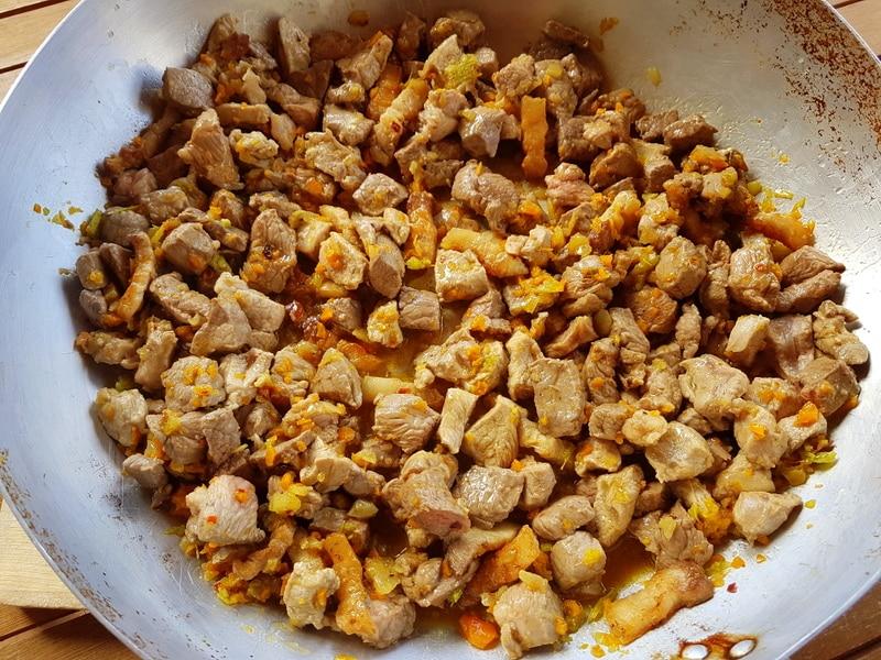 4 meat ragu browned meat
