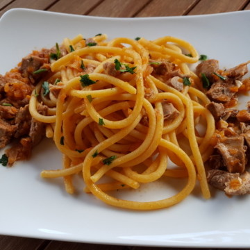 Bigoli with duck ragu