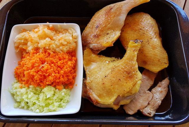 Bigoli with duck ragu ingredients