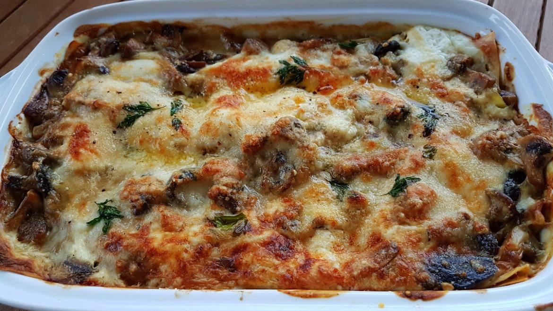 lasagna lasagne al forno mushrooms burrata