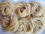 Lombrichelli, hand rolled pasta from Lazio