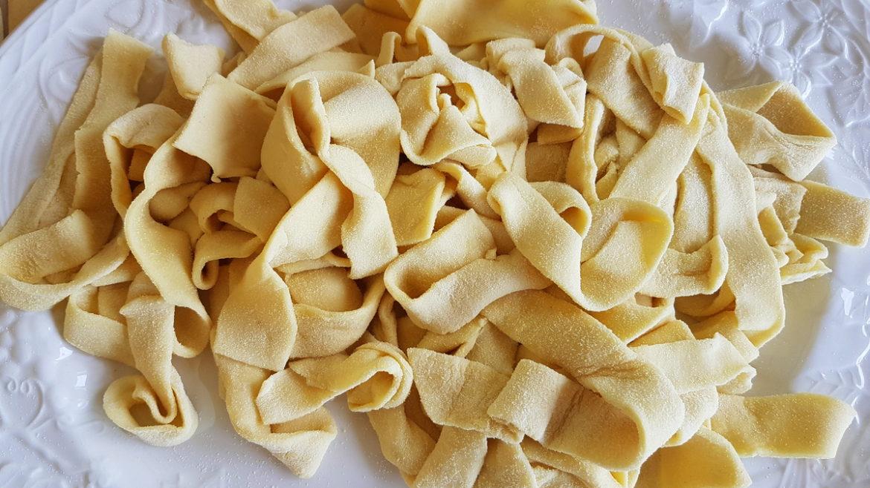 homemade lagane pasta