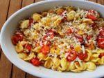 Orecchiette pasta with roasted tomatoes (pomodori al forno)