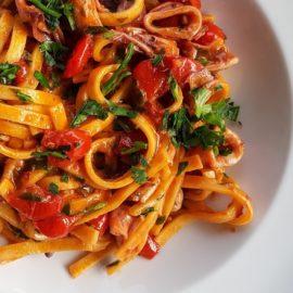 pasta with calamari