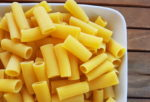 Rigatoni, pasta with ridges.