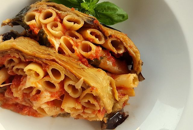 Parmigiana timballo with Ziti or Zitoni