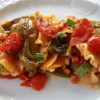 Pasta with friggitelli peppers (friarielli) & pancetta