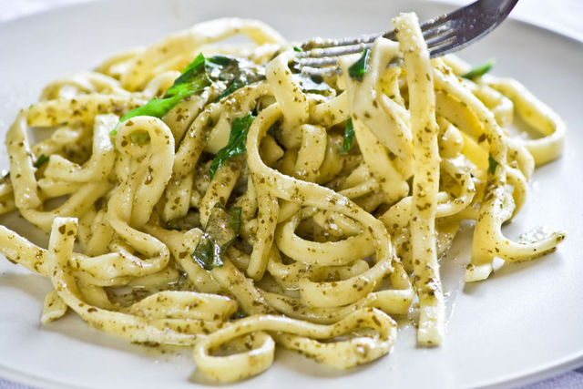 scialatielli with pesto