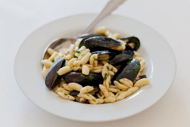 cavatelli pasta with mussels