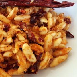 cavatelli pasta with peperoni cruschi (Senise peppers)