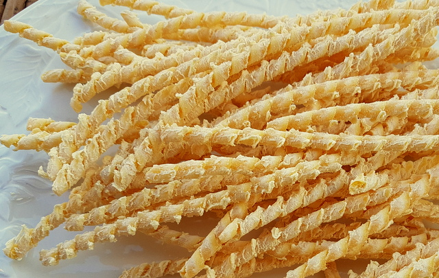 Dried busiate pasta from Trapani
