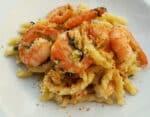 Pasta with Bottarga, Almonds and Prawns