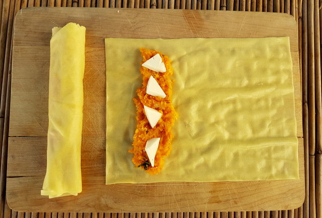Cannelloni with pumpkin and goat cheese