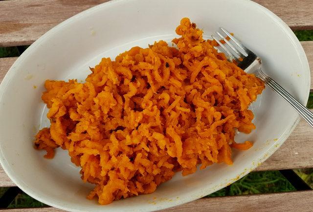 Homemade pumpkin gnocchi