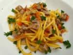 Bigoli pasta with farmyard ragu (di corte) from Padova