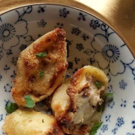 baked conchiglioni pasta shells with tuna and ricotta