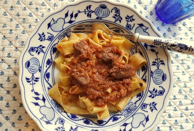 pappardelle pasta with venison ragu