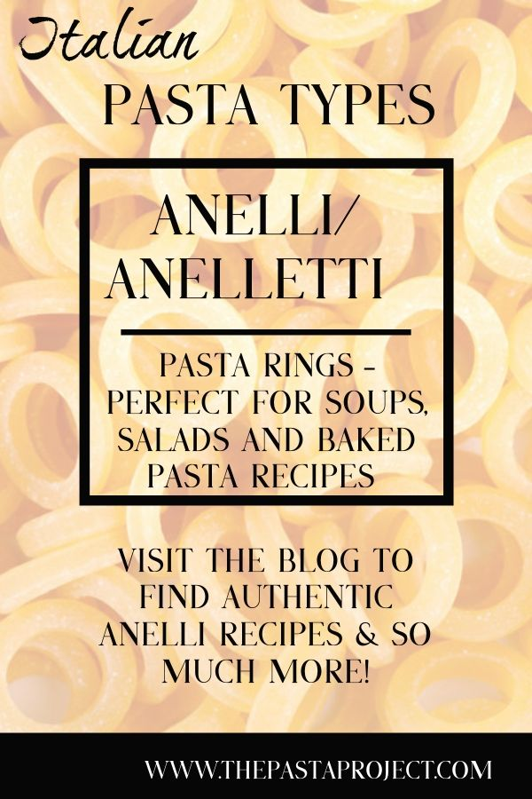 Anelli or Anelletti Pasta Rings