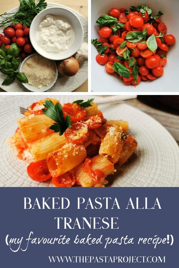 Baked pasta alla Tranese from Puglia
