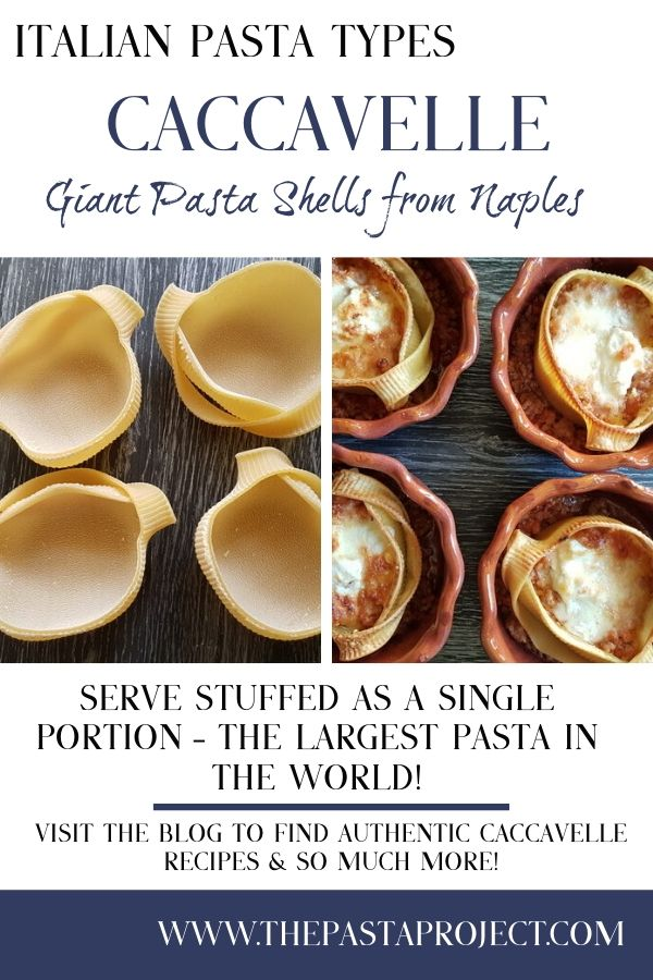 Caccavelle Giant Pasta Shells from Naples