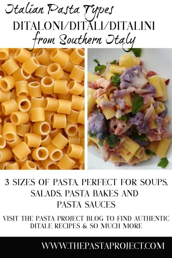 Italian Pasta Types - Ditaloni/ Ditali/ Ditalini
