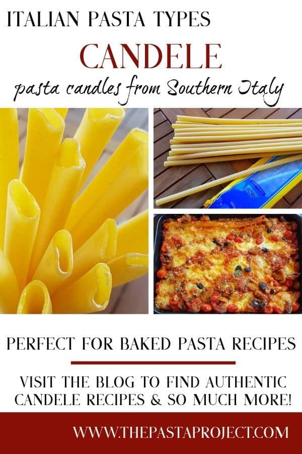 Italian Pasta Types - Candele