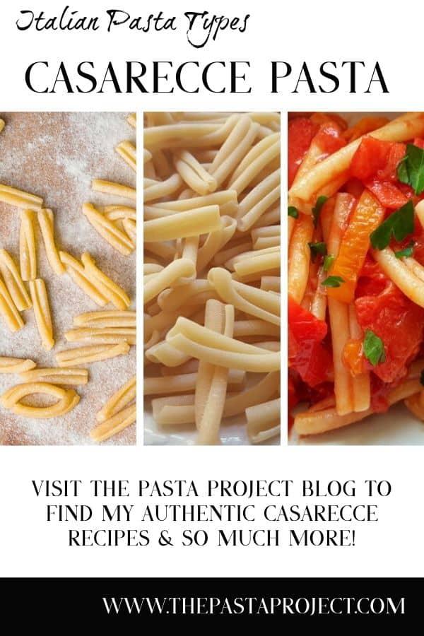 Italian Pasta Types - Casarecce Pasta