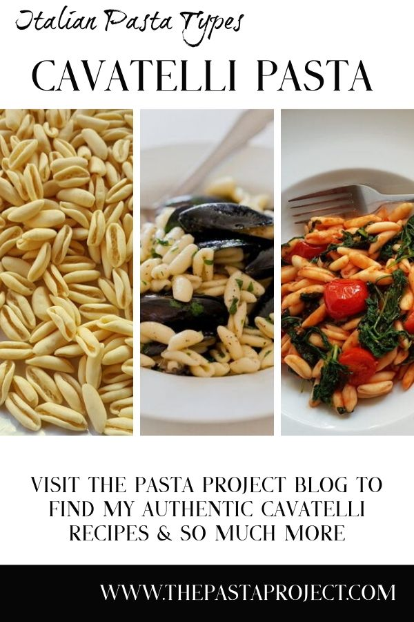Italian Pasta Types - Cavatelli