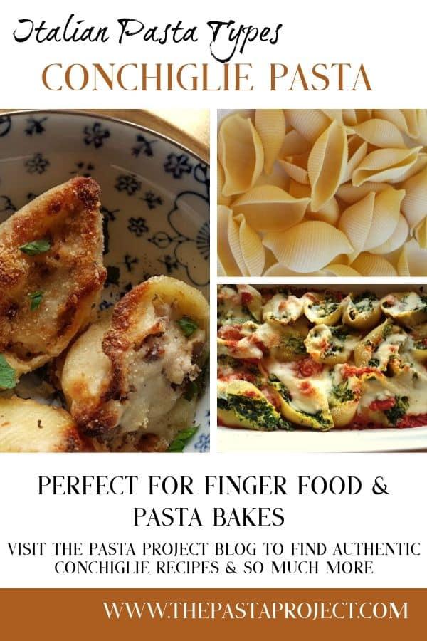 Italian Pasta Types - Conchiglie