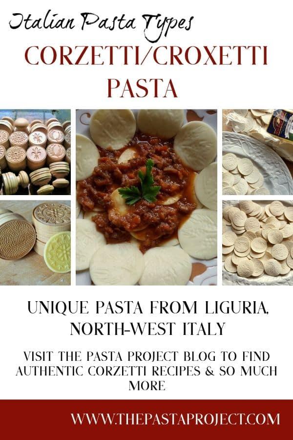Italian Pasta Types - Corzetti/Croxetti Pasta