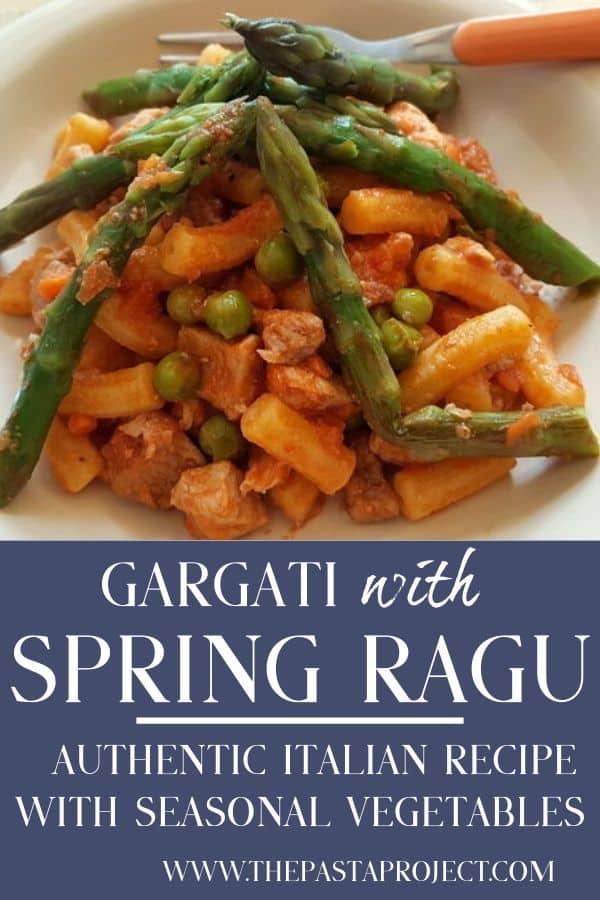 gargati with spring ragu (il consiero)