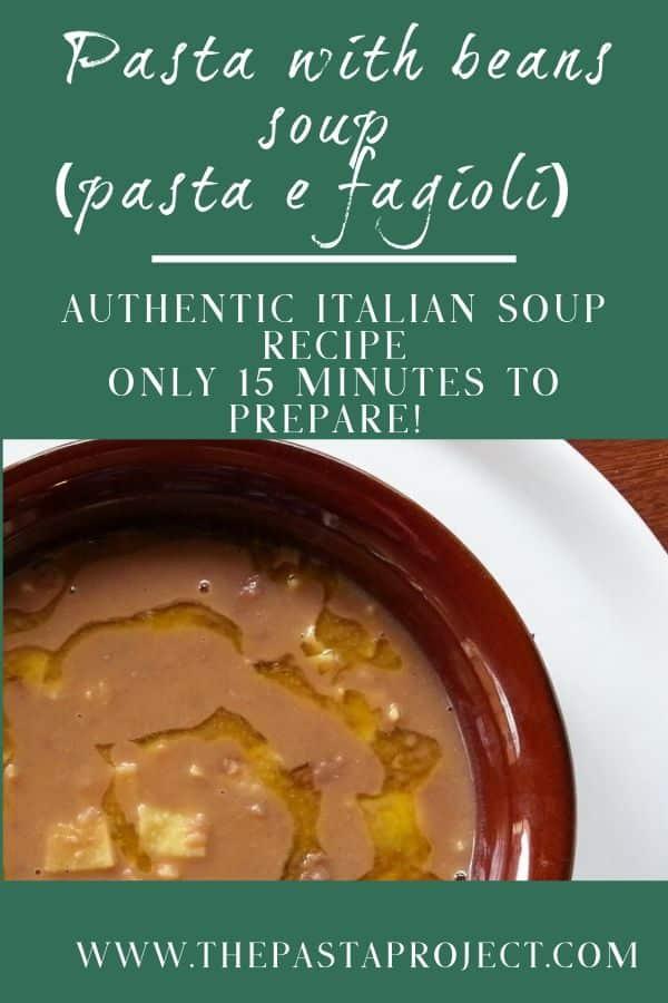 Pasta with Beans Soup (Pasta e Faglioli)