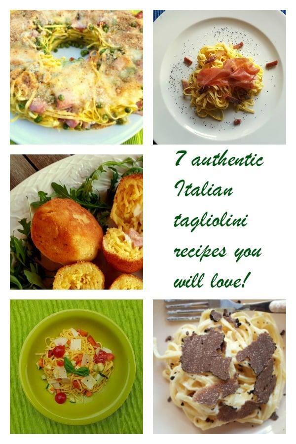 7 Italian tagliolini recipes