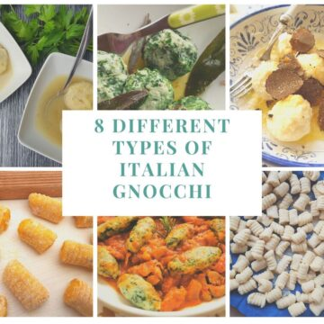8 different types of Italian gnocchi