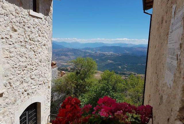 view from Rocca Calascio, Abruzzo