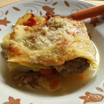 Baked Lasagne in Broth alla Molisana