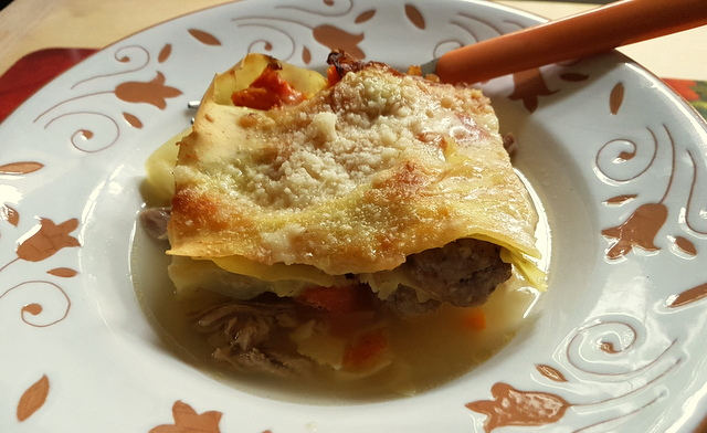 Baked Lasagna in Broth alla Molisana (7 Italian lasagna recipes)