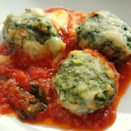 Baked Tuscan gnudi (Malfatti)
